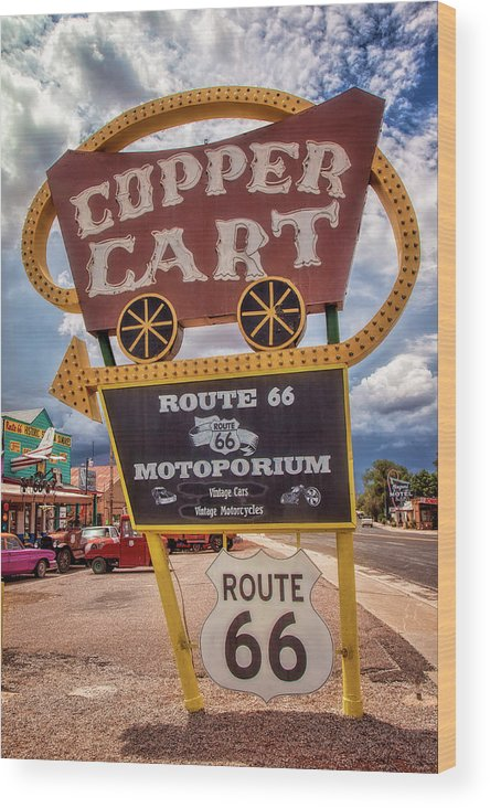 66 Wood Print featuring the photograph Copper Cart by Diana Powell