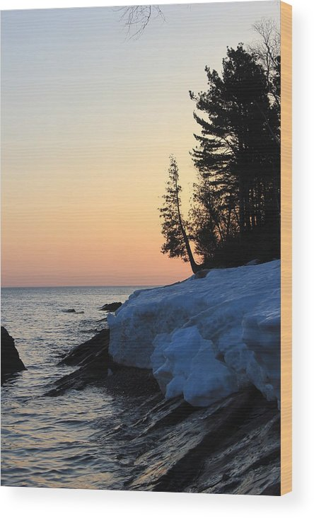 Pure Wood Print featuring the photograph Copper Country Spring Sunrise by Two Bridges North
