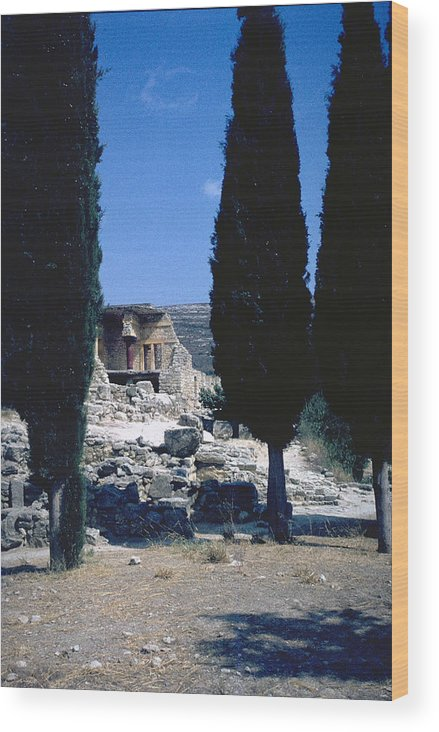Crete Wood Print featuring the photograph Crete by Flavia Westerwelle
