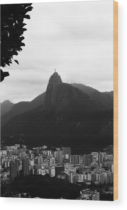 Cristo De Redentor Wood Print featuring the photograph Cristo From Afar by Emily Kemp
