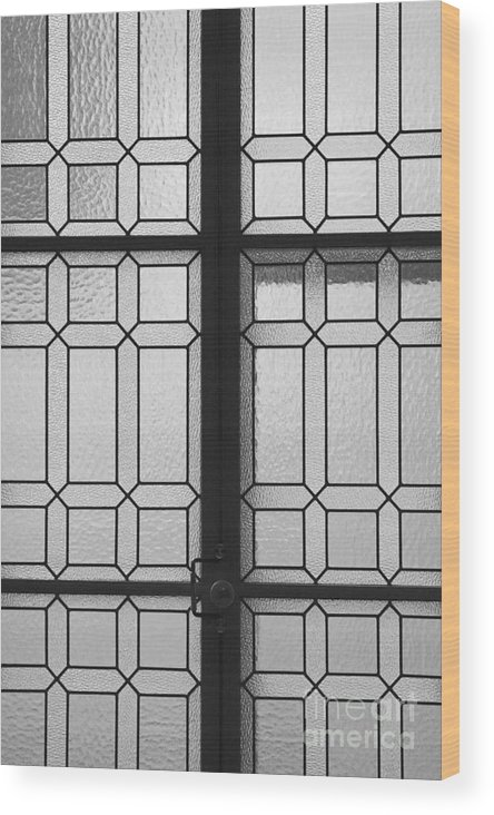 Designed Window Glass Wood Print featuring the photograph Designed Window Glass by Hideaki Sakurai