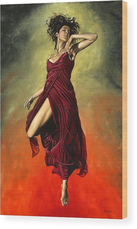 Dance Wood Print featuring the painting Destiny's Dance by Richard Young