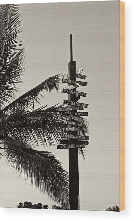 Hawaii Wood Print featuring the photograph Directions by Nick Difi