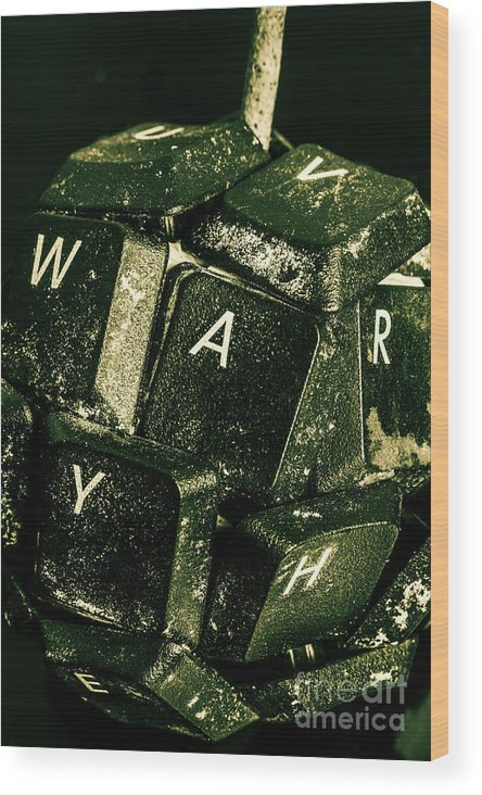 War Wood Print featuring the photograph Disarming Of Weaponiised Words by Jorgo Photography - Wall Art Gallery