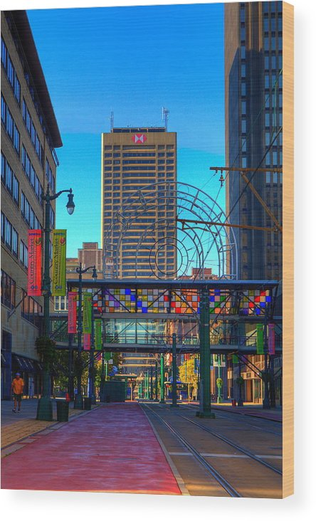 Buffalo Wood Print featuring the photograph Downtown Color by Don Nieman