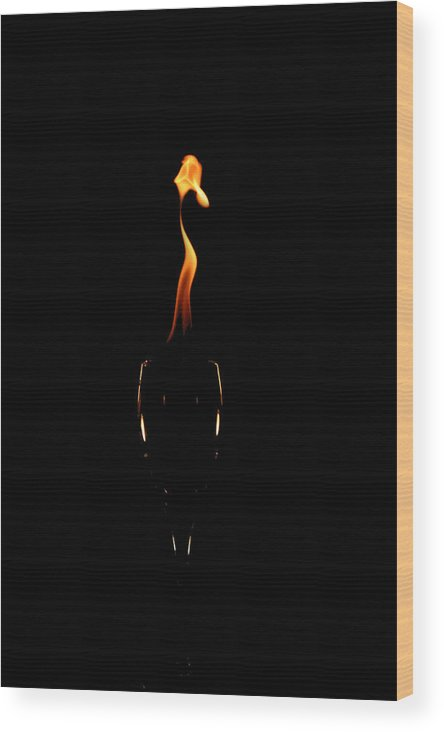 Glass Wood Print featuring the photograph Drop Of Fire by David Paul Murray