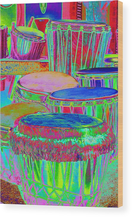 Psychedelic Wood Print featuring the photograph Drums Of Change by Richard Henne