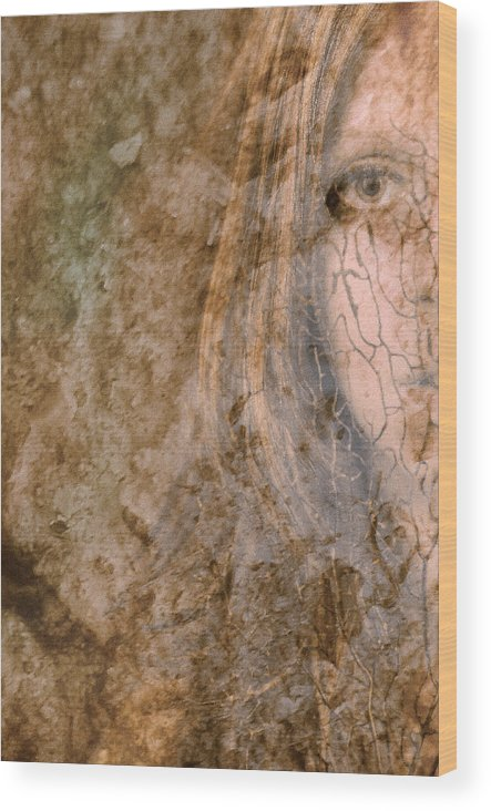 Abstract Wood Print featuring the photograph Earth Maiden by Steve Parrott