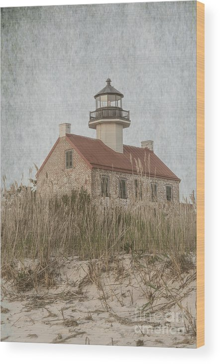 (architecture Or Architectural) Wood Print featuring the photograph East Point Lighthouse by Debra Fedchin