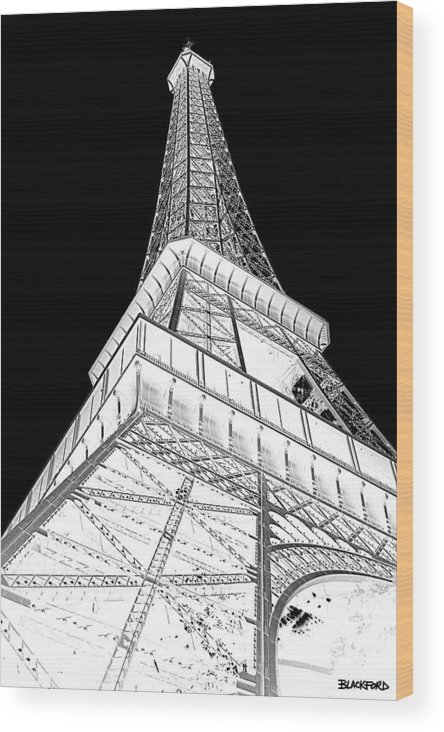 Eiffel Tower Wood Print featuring the photograph Eiffel Up Inverted by Al Blackford