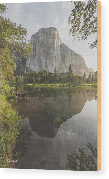 California Wood Print featuring the photograph El Capitan In Reflection by Bill Roberts