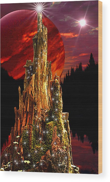 Fantasy Wood Print featuring the digital art Elfen Conclave by Roger Soule
