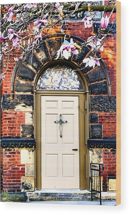Door Wood Print featuring the photograph Entrance by Michelle Joseph-Long