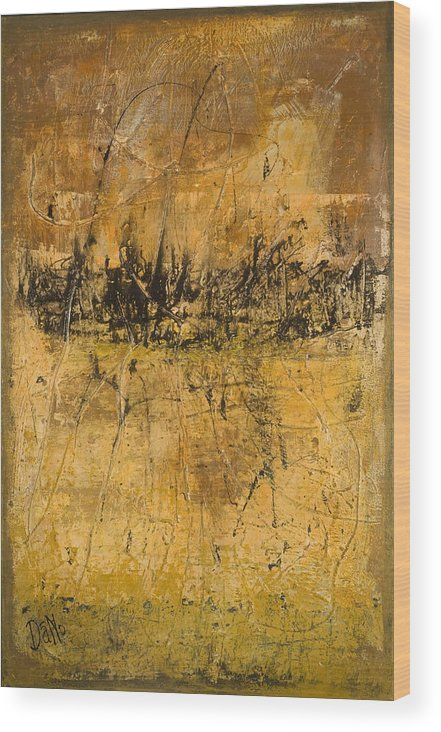 Abstract Wood Print featuring the painting Espresso by Duane Nowell