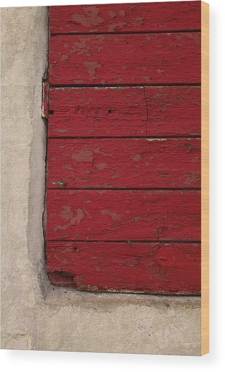 Red Wood Print featuring the photograph Exercise In Red by Odd Jeppesen