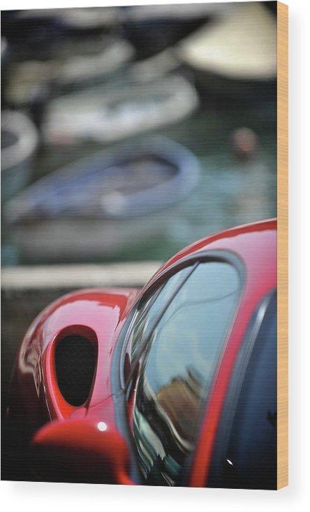 Cars Wood Print featuring the photograph Ferrari 3 by Bobby Bouchikhi