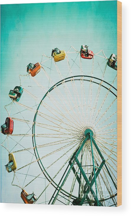 Ferris Wheel Wood Print featuring the photograph Ferris Wheel 2 by Kim Fearheiley