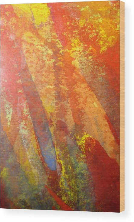 Fire Wood Print featuring the photograph Firedance by Belinda Consten