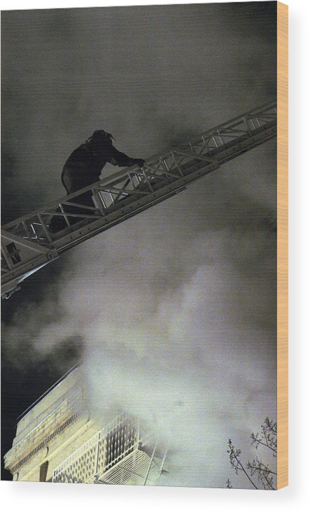 Fireman Wood Print featuring the photograph Fireman Washington Dc by Thomas Michael Corcoran