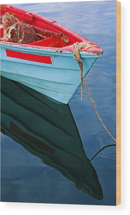 Fishing Wood Print featuring the photograph Fishing Boat-1-st Lucia by Chester Williams