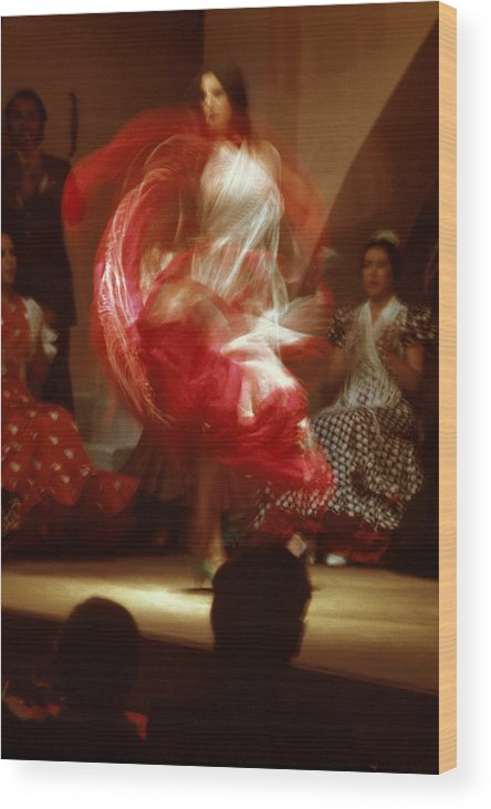 Spain Wood Print featuring the photograph Flamenco Dancer In Seville by Carl Purcell