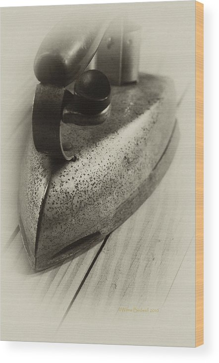 Vintage Wood Print featuring the photograph Flatiron by Wilma Birdwell