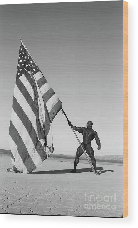Wood Print featuring the photograph Flex Flag by David Paul