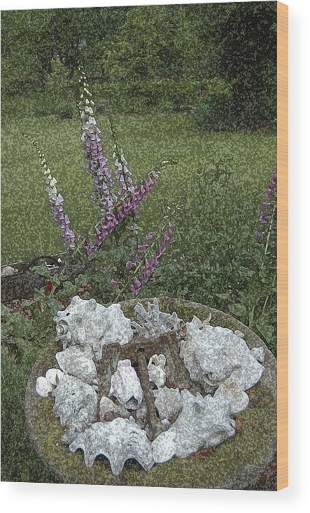 Floral Wood Print featuring the photograph Floral Abstract With Anchor by Robert Ponzoni