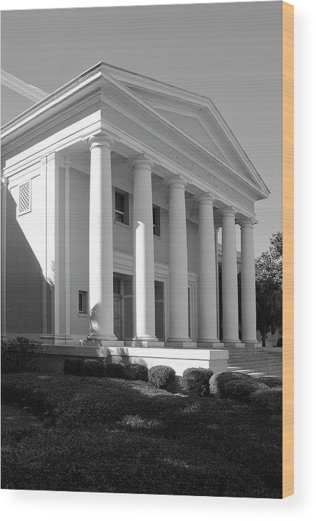 Black And White Photography Wood Print featuring the photograph Florida State Surpeme Court by Wayne Denmark