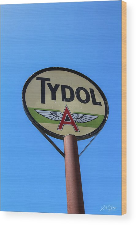 Tydol Wood Print featuring the photograph Flying A by Zach Johanson