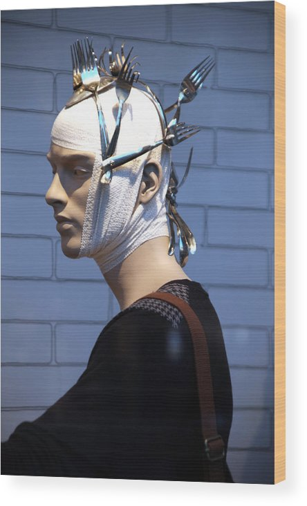 Mannequins Wood Print featuring the photograph For Forks Sake by Jez C Self