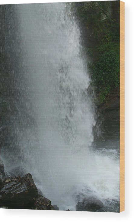 Waterfall Wood Print featuring the photograph Force Of Gravity by Christal Randolph