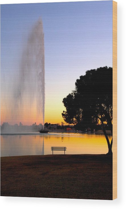 Fountain Hills Wood Print featuring the photograph Fountain Hills by Paul Kloschinsky