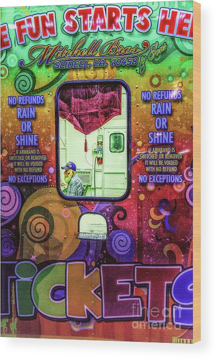 Clown Wood Print featuring the photograph Fun Starts Here - Traveling Fair by Kathleen K Parker