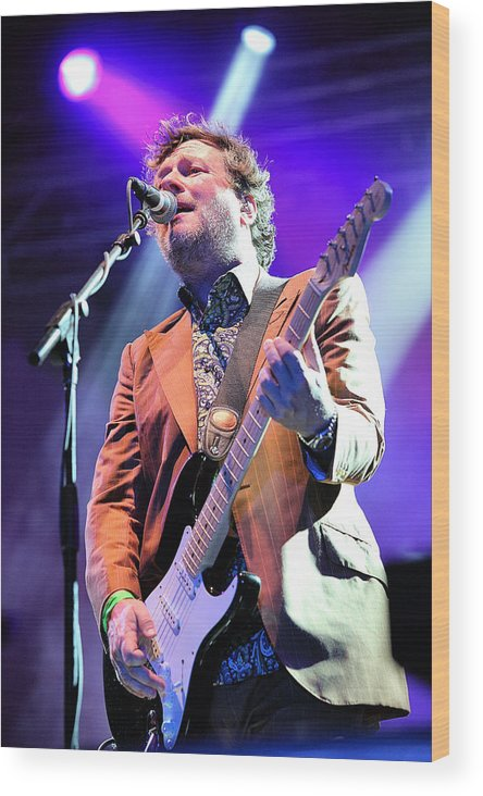 Glen Wood Print featuring the photograph Glenn Tillbrook Of Squeeze by David McDonald