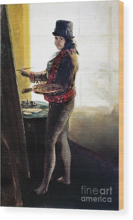 1790s Wood Print featuring the photograph Goya: Self-portrait by Granger