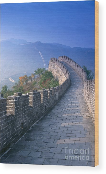 Asian Art Wood Print featuring the photograph Great Wall Of China by Gloria and Richard Maschmeyer - Printscapes