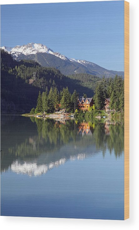 Green Wood Print featuring the photograph Green Lake Whistler by Pierre Leclerc Photography