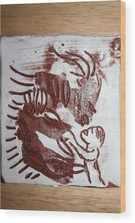 Gloria Photosgloria Photospineapple2pineapple Wood Print featuring the ceramic art Greeting 10 - Tile by Gloria Ssali