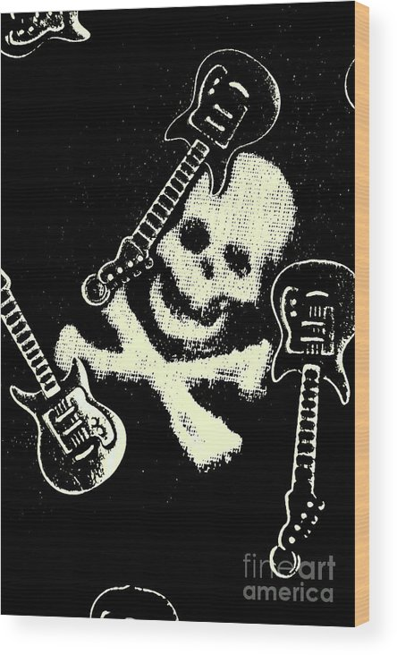 Heavy Metal Wood Print featuring the photograph Guitars Of Black Metal by Jorgo Photography - Wall Art Gallery