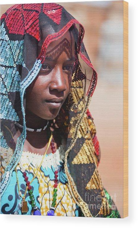 People Wood Print featuring the photograph Hadji A Fulani Girl II by Irene Abdou