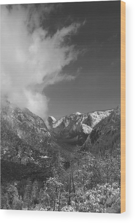 Half Dome Wood Print featuring the photograph Half Dome Winter by Travis Day