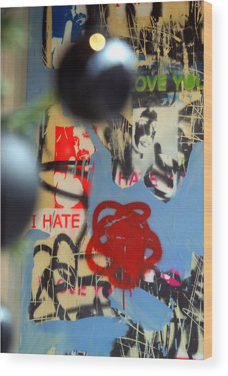 Jez C Self Wood Print featuring the photograph Hate Love Hate Love by Jez C Self