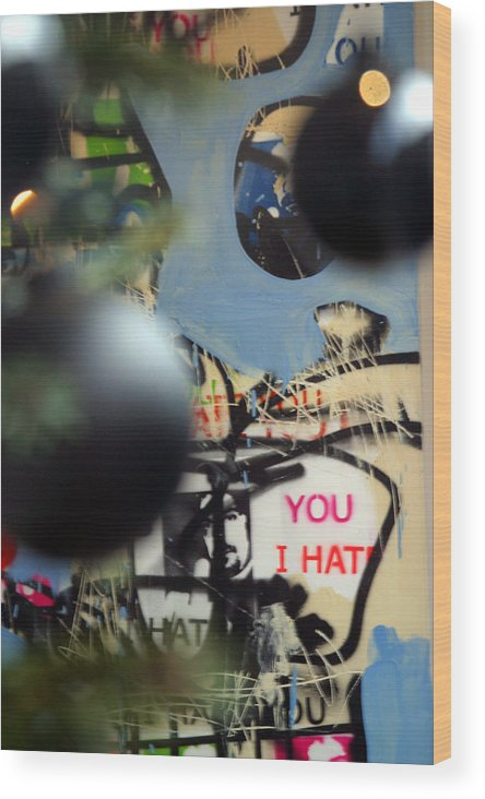 Jez C Self Wood Print featuring the photograph Hate You by Jez C Self
