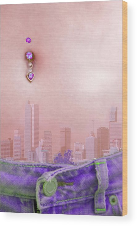 Urban Wood Print featuring the photograph Heart Of The City by Jennifer Riefenberg
