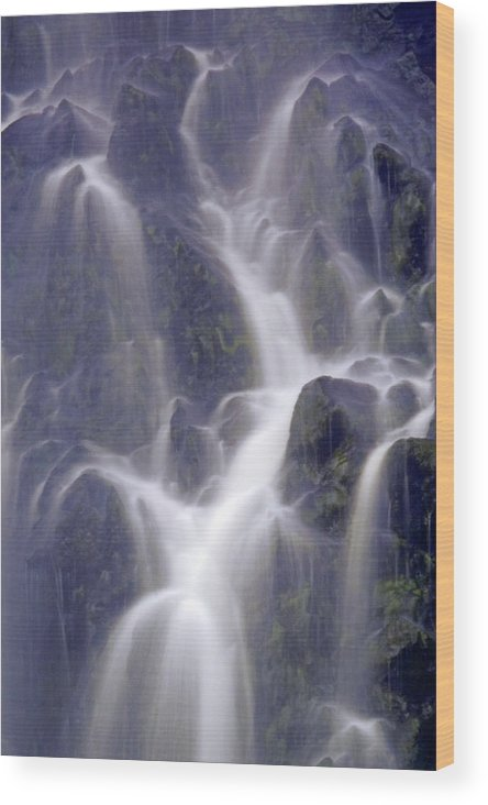 Scotland Wood Print featuring the photograph Highland Waterfall Clachtoll by John McKinlay