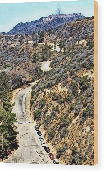 Hollywood Sign Wood Print featuring the photograph Hollywood Sign / Hollywood Hills by Robert Butler