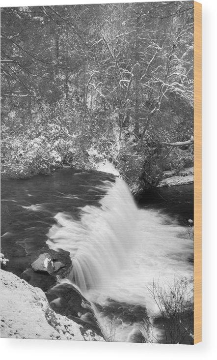Landscape Wood Print featuring the photograph Hooker Falls North Carolina by David Waldrop