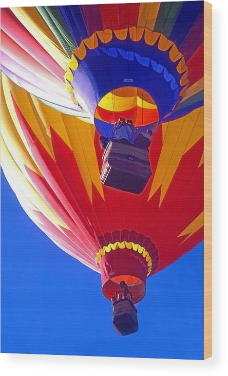 Hot Air Balloons; Balloons Wood Print featuring the photograph Hot Air Balloons by Steve Ohlsen