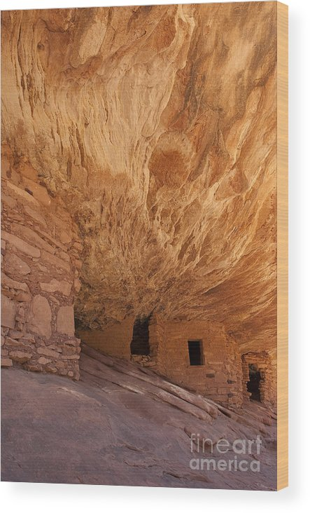 Southwest Wood Print featuring the photograph House On Fire-indian Ruin by Sandra Bronstein